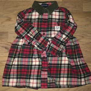 Ralph Lauren girls flannel dress EUC 12-18 months